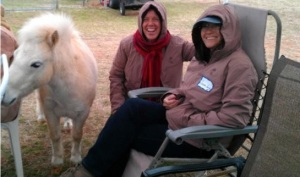 Elijah, Stina Herberg, Susan Smith at Spirit Horse Ranch, LIberty Foundations clinic, March 2013