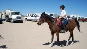 Obie Boon riding Khami at the Renegade Endurance Ride, El Paso, 2011, Top Ten LD